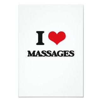 Amo masajes invitación 8,9 x 12,7 cm