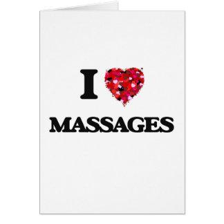 Amo masajes tarjeta de felicitación