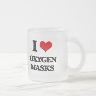 Amo máscaras de oxígeno taza cristal mate