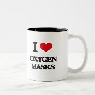 Amo máscaras de oxígeno taza dos tonos