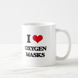 Amo máscaras de oxígeno taza básica blanca