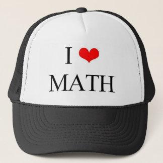 Amo matemáticas gorra de camionero