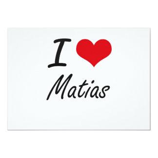 Amo Matias Invitación 12,7 X 17,8 Cm
