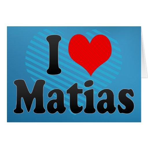 Amo Matias Tarjetón