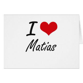 Amo Matias Tarjeta Pequeña