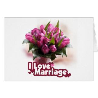 Amo matrimonio de la boda felicitaciones