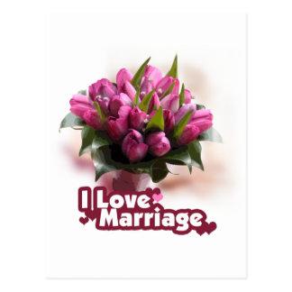 Amo matrimonio de la boda postal