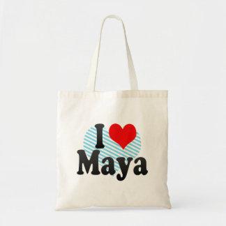 Amo maya bolsa tela barata