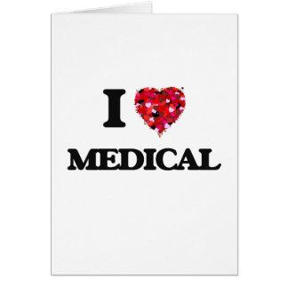Amo médico tarjeta de felicitación