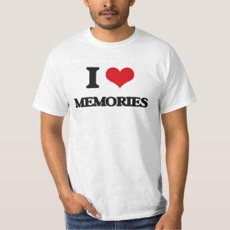 Amo memorias camiseta