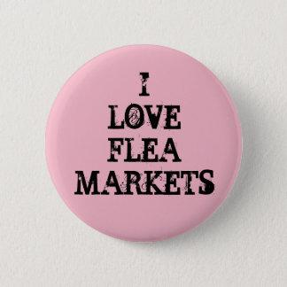 Amo mercados de pulgas chapa redonda de 5 cm