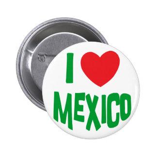Amo México Chapa Redonda De 5 Cm