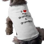 Amo mi abuela y abuelo ropa de perro