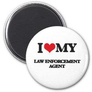 Amo mi agente de aplicación de ley imán para frigorífico
