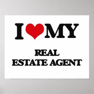 Amo mi agente inmobiliario posters