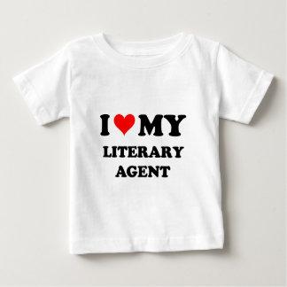 Amo mi agente literario camiseta de bebé