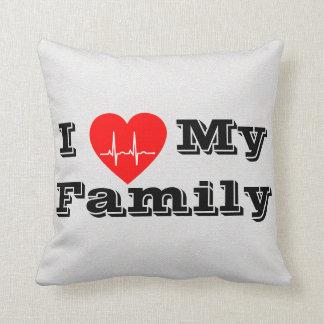 Amo mi almohada de encargo de la decoración del