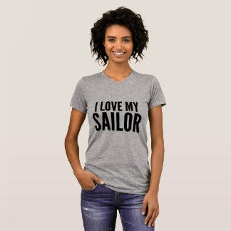 Amo mi amor de los militares del marinero camiseta