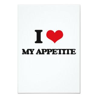 Amo mi apetito invitación 8,9 x 12,7 cm