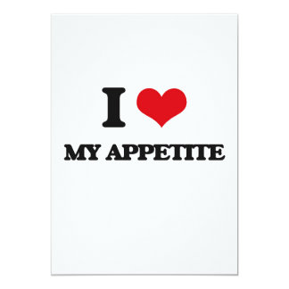 Amo mi apetito invitación 12,7 x 17,8 cm