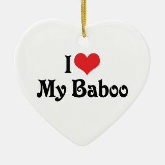 Amo mi Baboo Adorno Navideño De Cerámica En Forma De Corazón