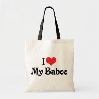 Amo mi Baboo Bolsa Tela Barata