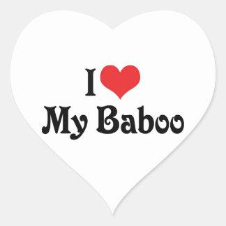 Amo mi Baboo Colcomanias Corazon Personalizadas