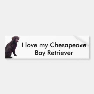 Amo mi bahía de Chesapeake… Etiqueta De Parachoque