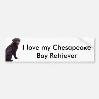 Amo mi bahía de Chesapeake… Pegatina Para Coche
