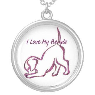 Amo mi beagle colgante redondo