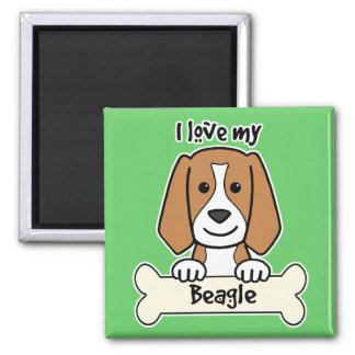Amo mi beagle imanes de nevera