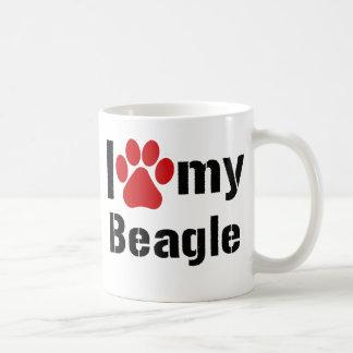 Amo mi beagle taza de café