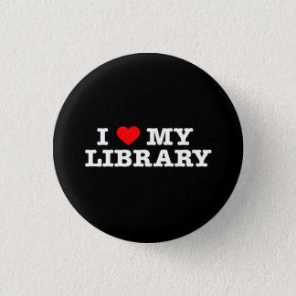 Amo mi biblioteca chapa redonda de 2,5 cm