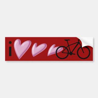 ¡Amo mi bici de montaña! Pegatina Para Coche