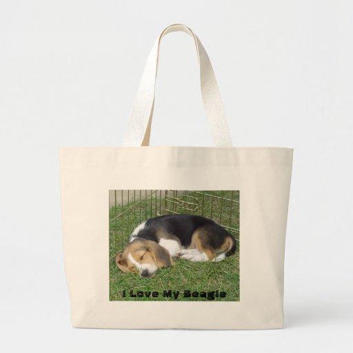 Amo mi bolso del perrito del beagle bolsas
