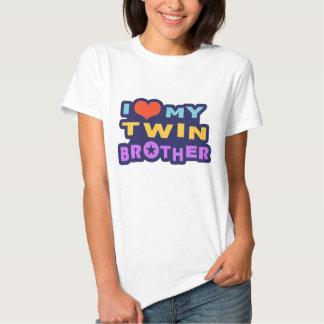 Amo mi Brother gemelo Camisetas