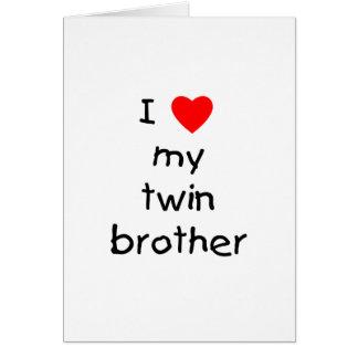 Amo mi Brother gemelo Tarjeta De Felicitación