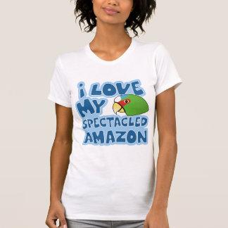 Amo mi camiseta con gafas de las señoras del