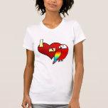 Amo mi camiseta de las señoras del Macaw del