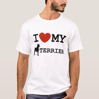 amo mi camiseta del terrier de Staffordshire