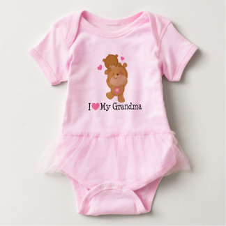 Amo mi camiseta del tutú de las niñas de la abuela