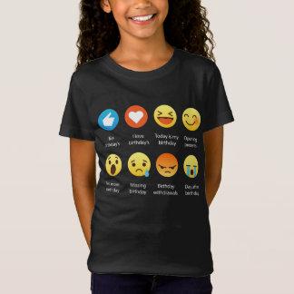 Amo mi camiseta divertida del Emoticon de Emoji