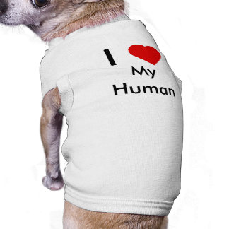 Amo mi camiseta humana del perro