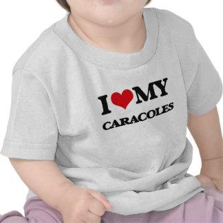 Amo mi CARACOLES Camisetas