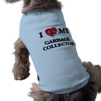 Amo mi colector de basura camiseta sin mangas para perro