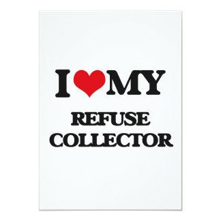 Amo mi colector de basura invitación 12,7 x 17,8 cm