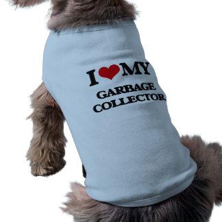 Amo mi colector de basura camisas de perritos