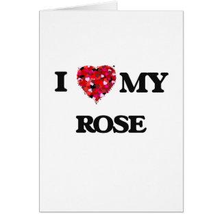 Amo MI color de rosa Tarjeta De Felicitación