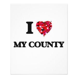Amo mi condado folleto 11,4 x 14,2 cm