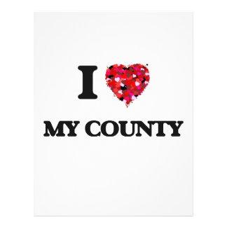 Amo mi condado folleto 21,6 x 28 cm